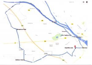 Trasa septembrskega kolesarjenja