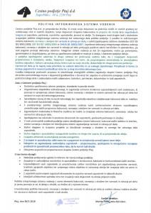 Politika družbe CP Ptuj 2018